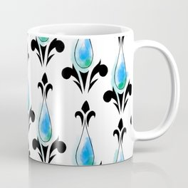 Dark Blue Splash Pattern Coffee Mug
