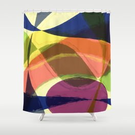 Abstract #465 Shower Curtain