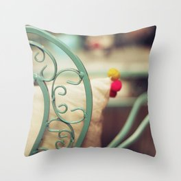 The chair and the pillow Throw Pillow
