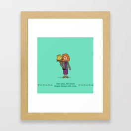Mrs Parker and the Lamp Framed Art Print