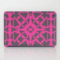 gray pattern iPad Cases featuring Magenta Gray pattern by xiari