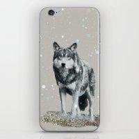 dota iPhone & iPod Skins featuring SNOW WOLF by Monika Strigel