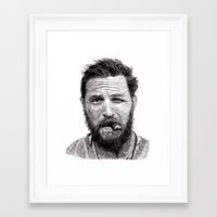 tom selleck Framed Art Prints featuring Tom by Rik Reimert