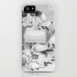 Louis Wain's Cats in the Dormitory iPhone Case