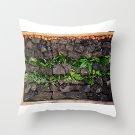 Coal and Leaves 01 Throw Pillow