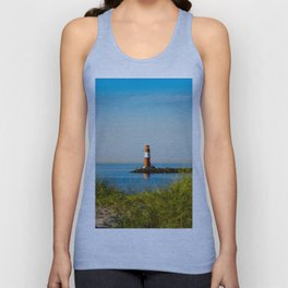 Red lighthouse in Warnemünde Unisex Tank Top