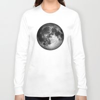 the moon Long Sleeve T-shirts featuring moon by Tudor