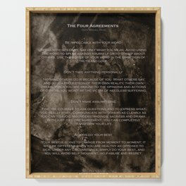 The Four Agreements 2 Serving Tray