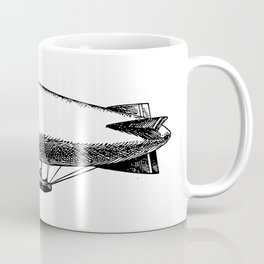 Flying Blimp Detailed Illustration Coffee Mug