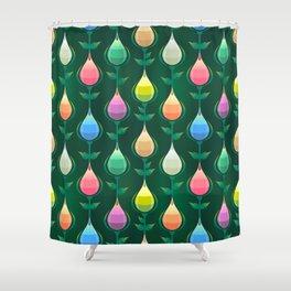 Tulips Seamless Pattern Shower Curtain