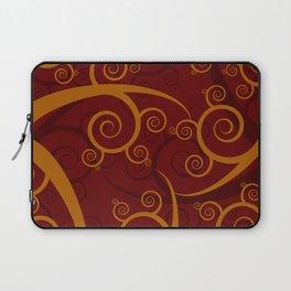 Red Swirl Pattern Laptop Sleeve