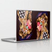 artpop Laptop & iPad Skins featuring Neon Artpop by Helen Green