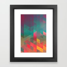 byych fyre Framed Art Print