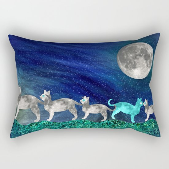 MOON CATS Rectangular Pillow