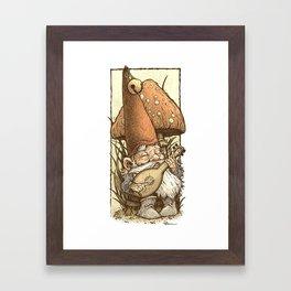 Gnome Minstrel Framed Art Print