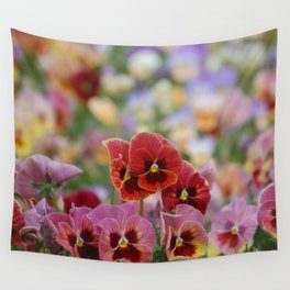 Pansies  Wall Tapestry