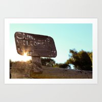 Campers Welcome Art Print