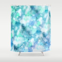 Cracked Geode Shower Curtain