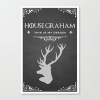 will graham Canvas Prints featuring House Graham by Pixel Design