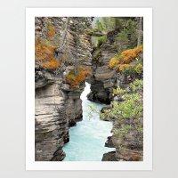 Waterfall - Athabasca Falls Art Print