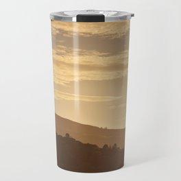 Hills at sunset in the Lake District, England Travel Mug