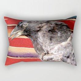 Old crow Rectangular Pillow