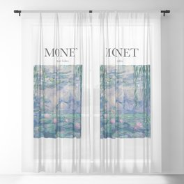 Monet - Water Lilies Sheer Curtain