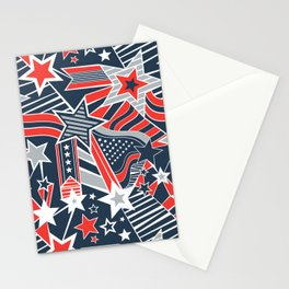 Patriotic Pattern Stationery Cards