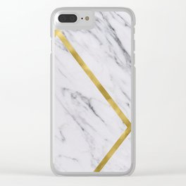 Golden classic marble Clear iPhone Case