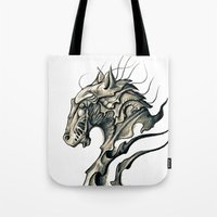 horse Tote Bags featuring Horse by Nuam