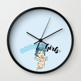 "Chubby Girls ""Blue one"" Wall Clock"