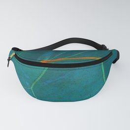 Two Sea Grape Leaves Fanny Pack