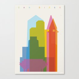 Shapes of San Diego Canvas Print