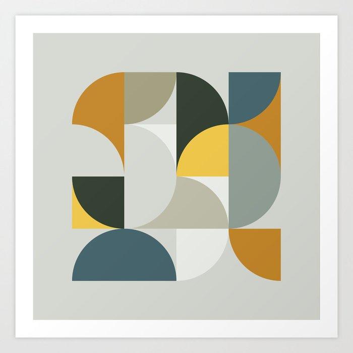 Mid Century Geometric 13 Kunstdrucke