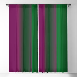 Emerald Green Ultra Violet stripes Blackout Curtain