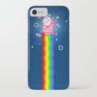 bee and puppycat iPhone & iPod Cases featuring PuppyCat by NicoleGrahamART
