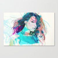feminism Canvas Prints featuring Feminism by Oana Popan