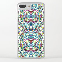 Sunday Morning Swirlies Clear iPhone Case