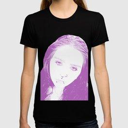 Purple Portrait Sketch T-shirt