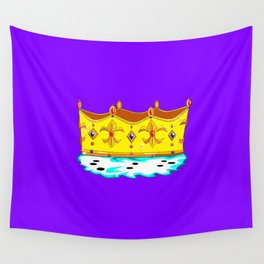 A Gold Crown with Ermine Fur Wall Tapestry