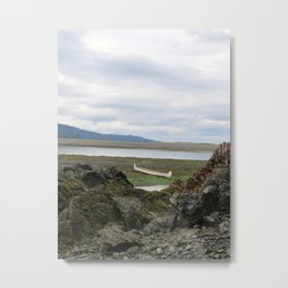 Abandoned :: A Lone Canoe Metal Print