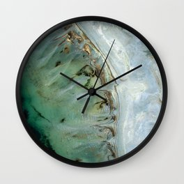 Golden Green Sea Wall Clock