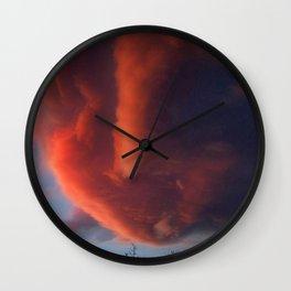 Sunset Heartbeat Wall Clock