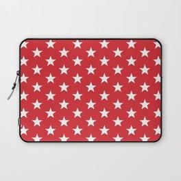 Superstars White on Red Medium Laptop Sleeve