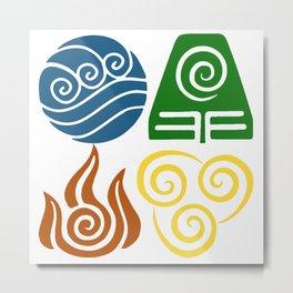 Water, Earth, Fire, Air Metal Print