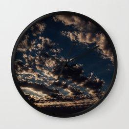 Cloudy Sunset Skies Wall Clock