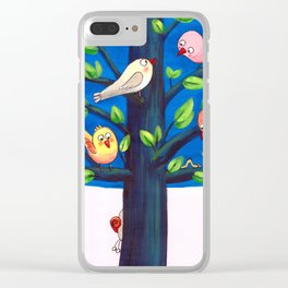 Birdy Tree Clear iPhone Case