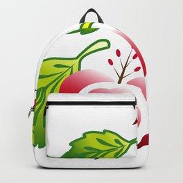 Flower art work,design,red heart flower,Flower Line Backpack