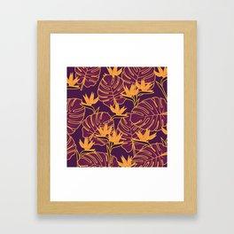 Purple Jungle Framed Art Print