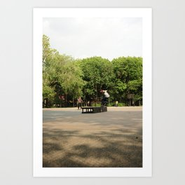 Skateboarding in Tompkins Square Park Art Print